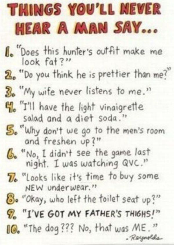 Things A Man Wont Say